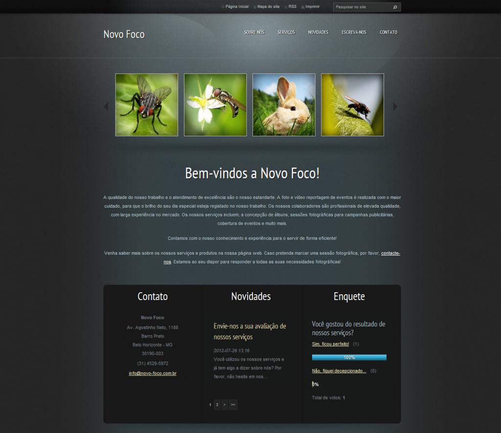 template webnode preto
