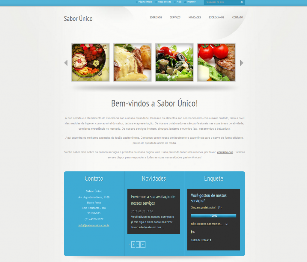 template webnode azul
