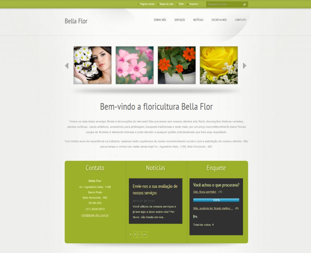 template webnode verde