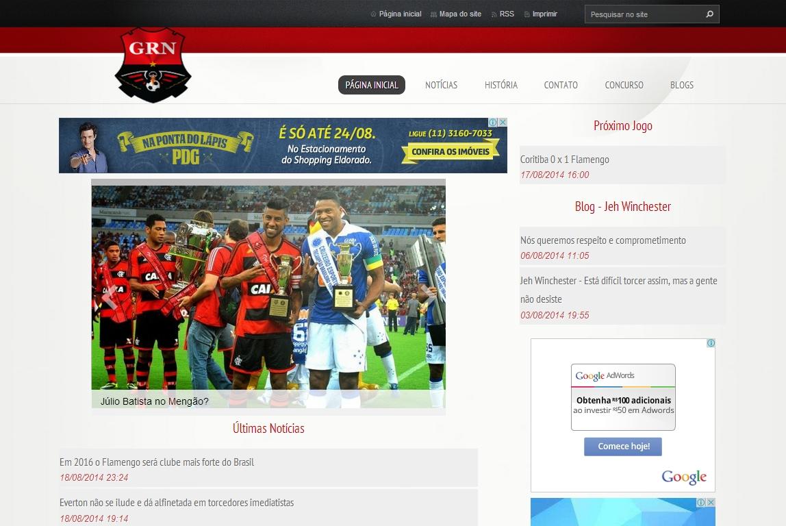 Geração Rubro Negra homepage